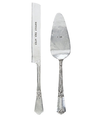 Mud Pie Wedding I Do & Happily Ever After Cake Knife & Server Set
