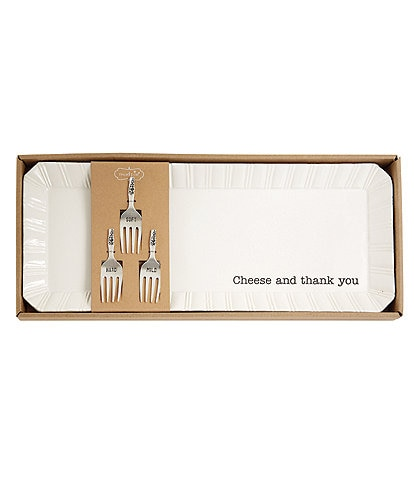 Mud Pie Cheese Tray With Markers Set