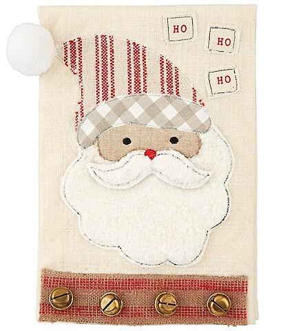 Mud Pie Circa Collection Christmas Santa Striped Hand Towel