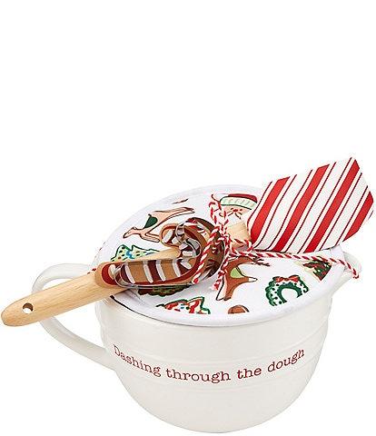 Mud Pie Circa Collection Holiday Mixing Bowl Baking Set