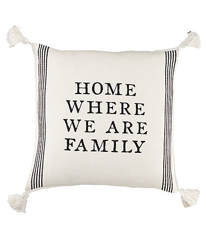 Mud Pie Circa Collection Home Where We Are Family Pillow