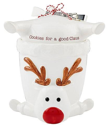 Mud Pie Circa Collection Reindeer Cookie Jar Set
