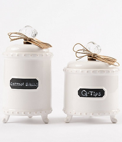 Mud Pie Circa Knob & Chalkboard Footed Canister