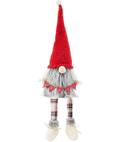 Mud Pie Classic Christmas Collection GNOEL Deluxe Dangle Leg Gnome