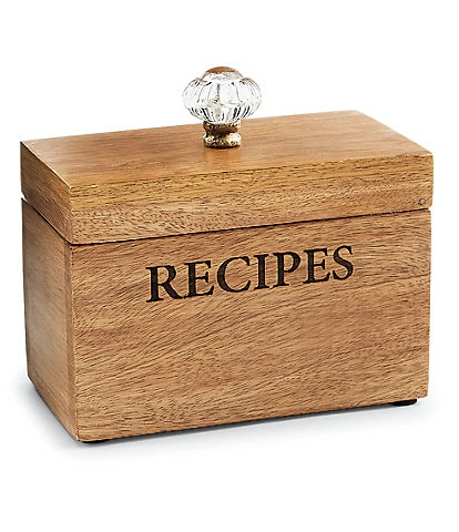 Mud Pie Door Knob Recipe Box Set