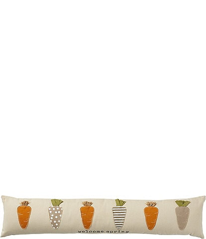 Mud Pie Easter Collection Carrot Skinny Bolster Pillow