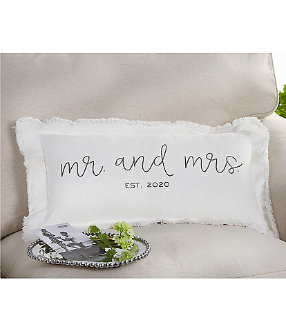 Mud Pie Est. 2020 Mr. And Mrs. Wedding Pillow
