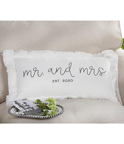 Mud Pie Est. 2020 Mr. And Mrs. Wedding Pillow