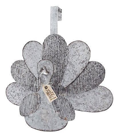 Mud Pie Festive Fall Collection Tin Turkey Door Hanger