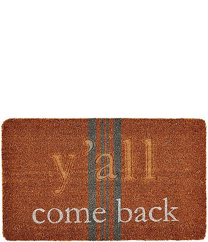 Mud Pie Front Porch Collection Y'all Come Back Mat