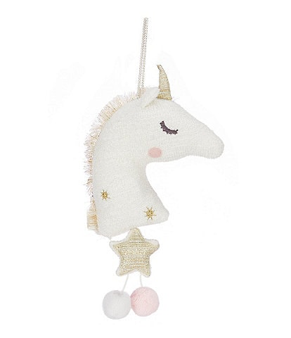 Mud Pie Gold Plush Unicorn Musical Pull