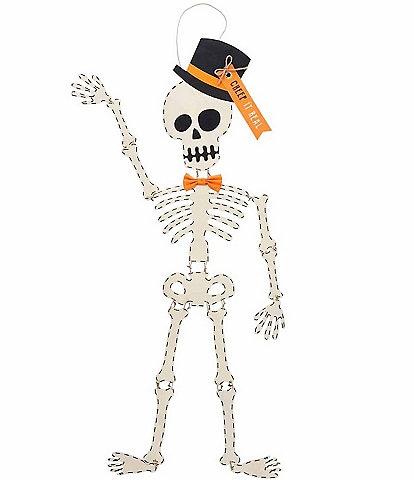 Mud Pie Halloween Collection Skeleton Top Hat Door Hanger Decor