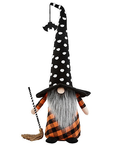 Mud Pie Halloween Collection XL Witch Gnome Decor