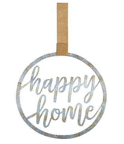 Mud Pie Happy Home Tin Door Decor