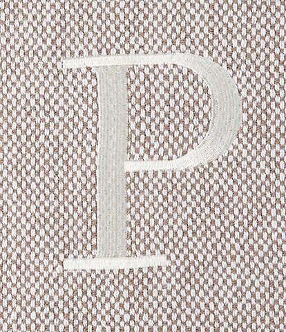 Mud Pie Herringbone Embroidered Initial Throw