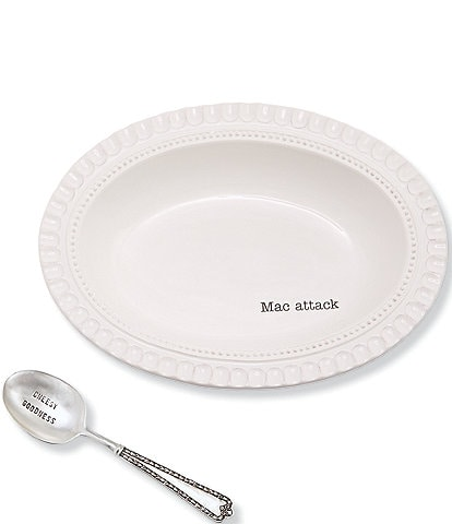 Mud Pie Festive Fall Collection Mac & Cheese Dish with Spoon