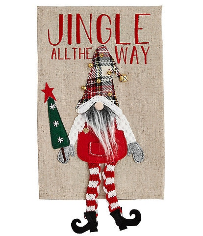 Mud Pie Merry Everything Collection Jingle Dangle Gnome Hand Towel