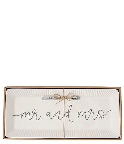 Mud Pie Mr & Mrs Hostess Tray Set