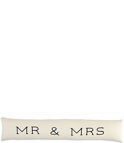 Mud Pie Mr Mrs Long Pillow