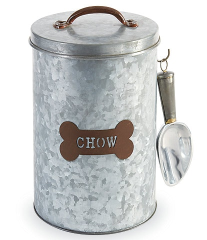 Mud Pie Mud Puppy Collection Dog Chow Tin Canister Set