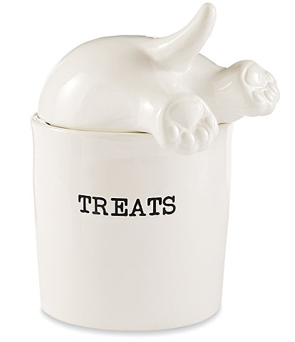 Mud Pie Mud Puppy Collection Dog Tail Treat Canister