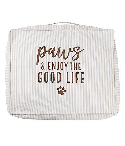 Mud Pie Mud Puppy Collection Paws & Enjoy the Life Dog Bed