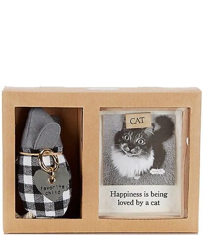 Mud Pie Muddy Paws Cat Frame Gift Set