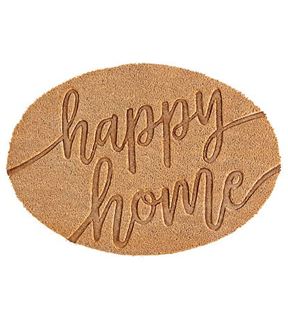 Mud Pie Outdoor Living Collection Happy Home Door Mat