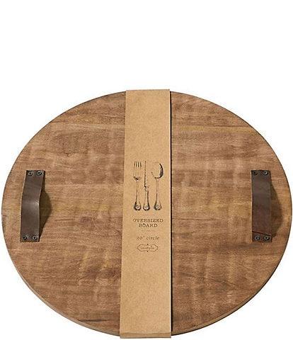 Mud Pie Round Over Sized Mango Wood Board