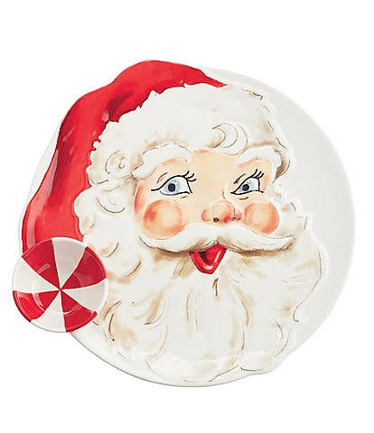 Mud Pie Santa Chip N Dip Dish