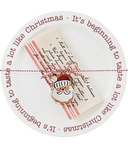 Mud Pie Santa Cookie Plate Set