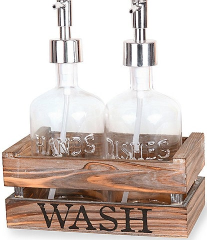 Mud Pie Soap & Hand Pump Set in Wood Crate