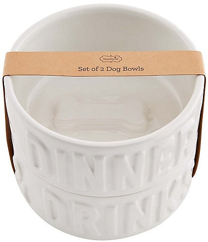 Mud Pie Stacked Dog Bowl Set