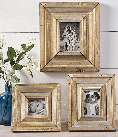 Mud Pie Vintage Farmhouse Collection Reclaimed Wood Frame