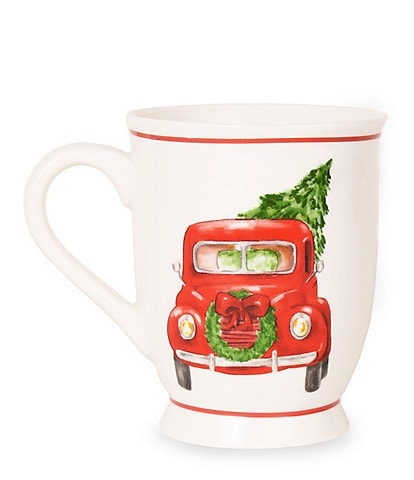 Mud Pie Vintage Truck Christmas Mug, Set of 2