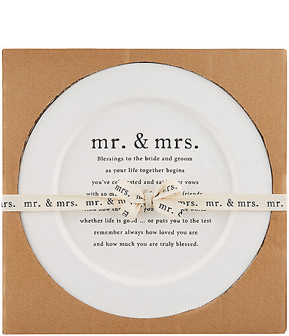 Mud Pie Wedding Blessing Round Platter