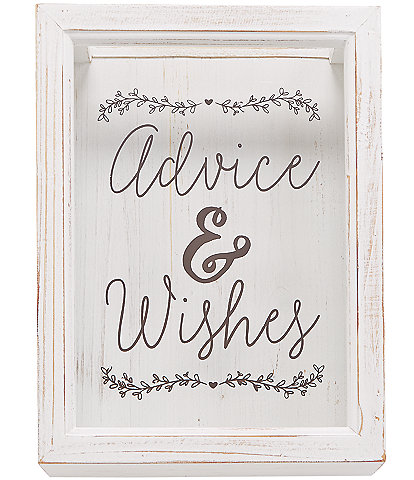 Mud Pie Wedding Collection Advice & Wishes Keepsake Box