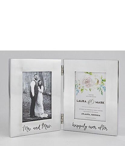 Mud Pie Wedding Collection Bridal Engraved Folding Aluminum Frame