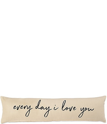 Mud Pie Wedding Collection #double;Every Day I Love You#double; Long Pillow