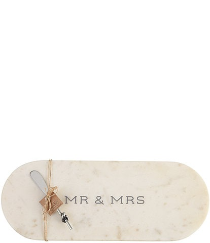 Mud Pie Wedding Collection #double;Mr & Mrs#double; Marble Board Set