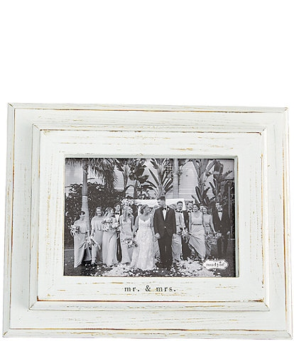 Mud Pie Wedding Collection #double;Mr. & Mrs.#double; 5x7#double; Distressed Frame