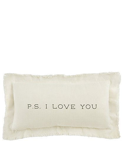 Mud Pie Wedding Collection P.S. I Love You Pillow