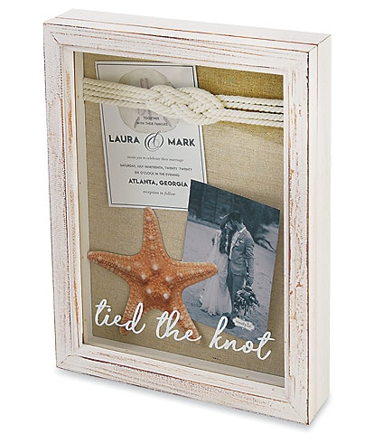 Mud Pie Wedding Collection #double;Tied The Knot#double; Shadow Box