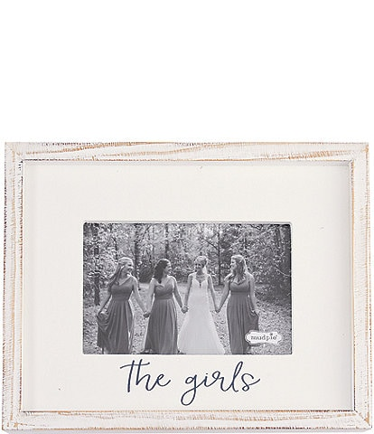 Mud Pie Wedding Collection White Washed #double;The Girls#double; 4x6 Frame