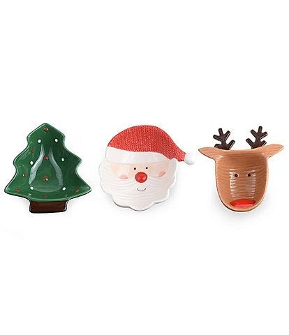 Mud Pie Whimsy-Holly-Jolly Mini Dip Bowls