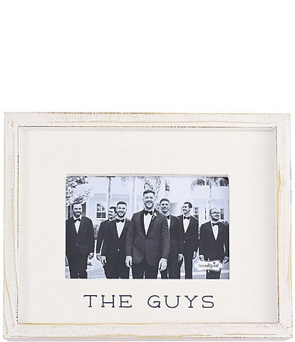 Mud Pie White Washed #double;The Guys#double; 4x6#double; Frame