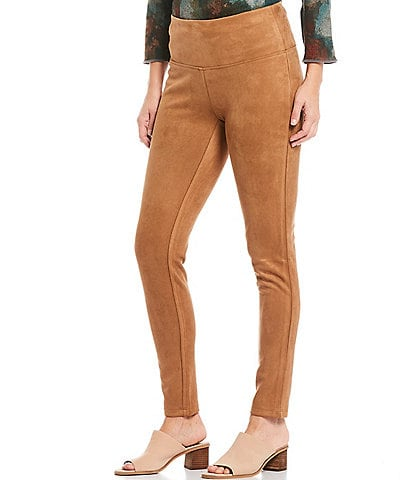Multiples Faux Suede Pull-On Leggings