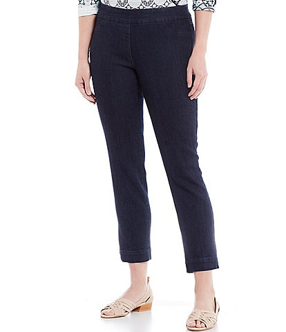 Multiples Petite Size Stretch Twill Pull-On Ankle Pants