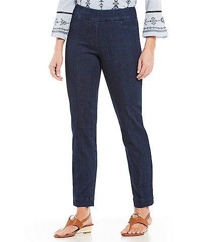 Multiples Pull-On Ankle Pants