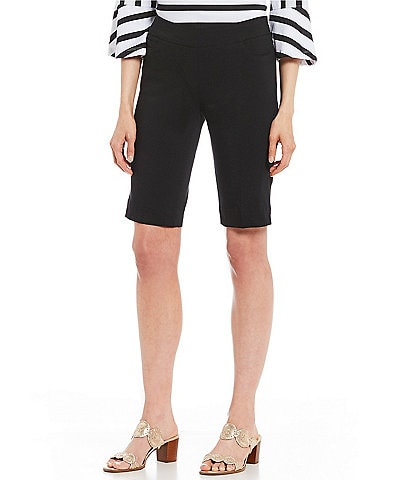 Multiples Solid Twill Knee Length Pull-On Shorts